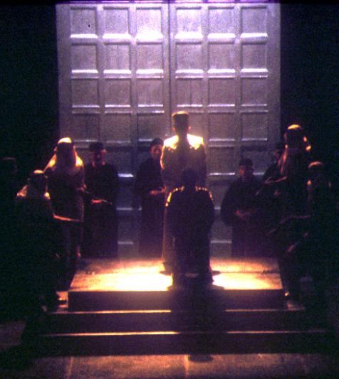21 silhouette against doors